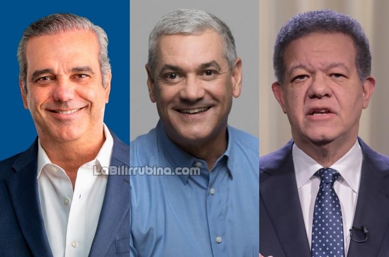 Luis Abinader, Gonzalo Castillo y Leonel