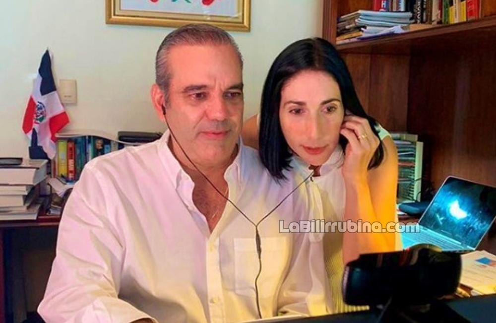 Luis Abinader y su esposa Raquel Arbaje