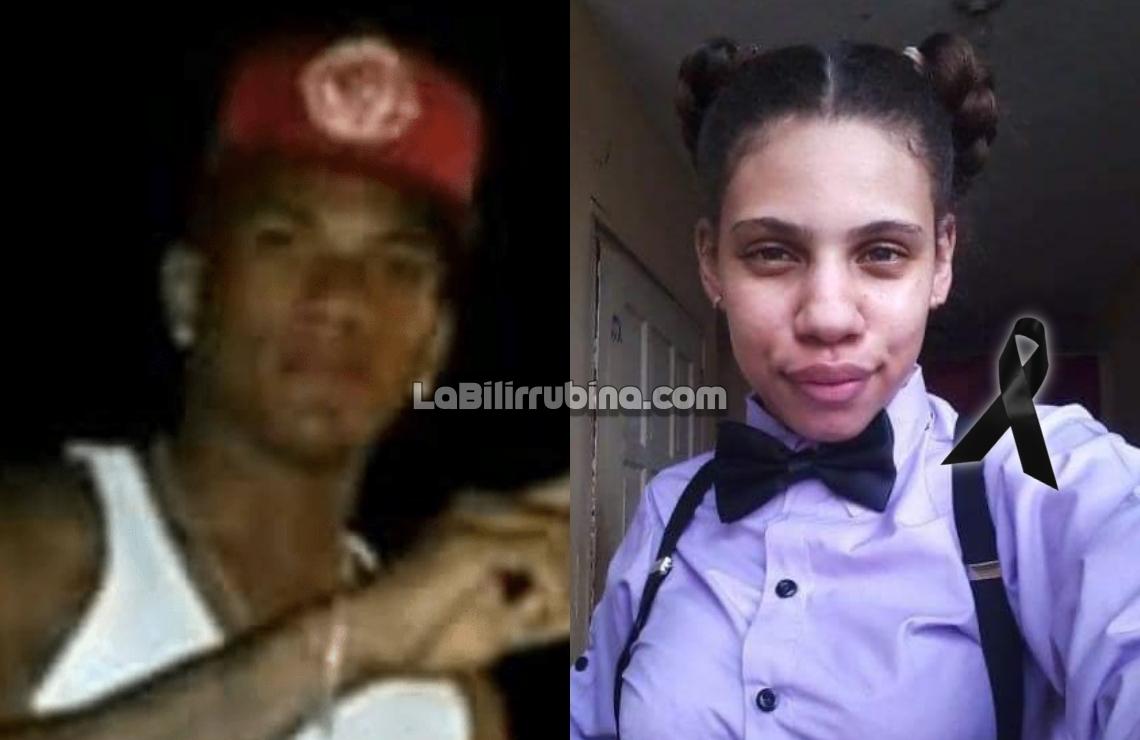 Delion Santana Matos y la joven Perla Taveras Taveras
