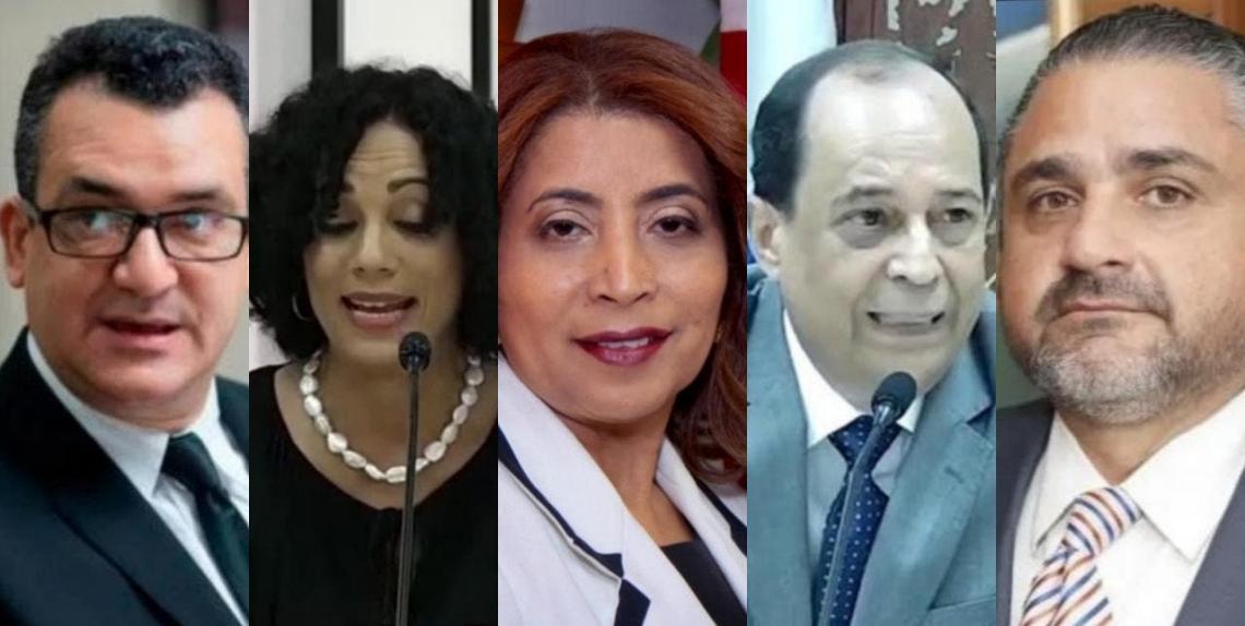 Román Jáquez, Patricia Paniagua, Dolores Fernández, Rafael Vallejo Santelises, y Samir Chami Isa, los nuevos titulares de la JCE