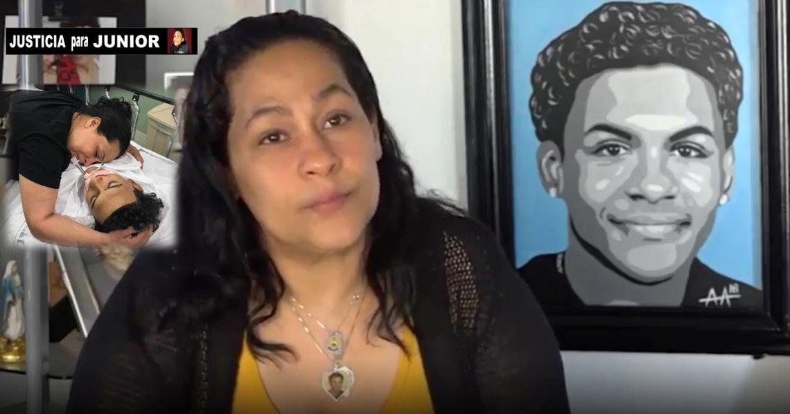 Leandra Feliz, madre de Junior