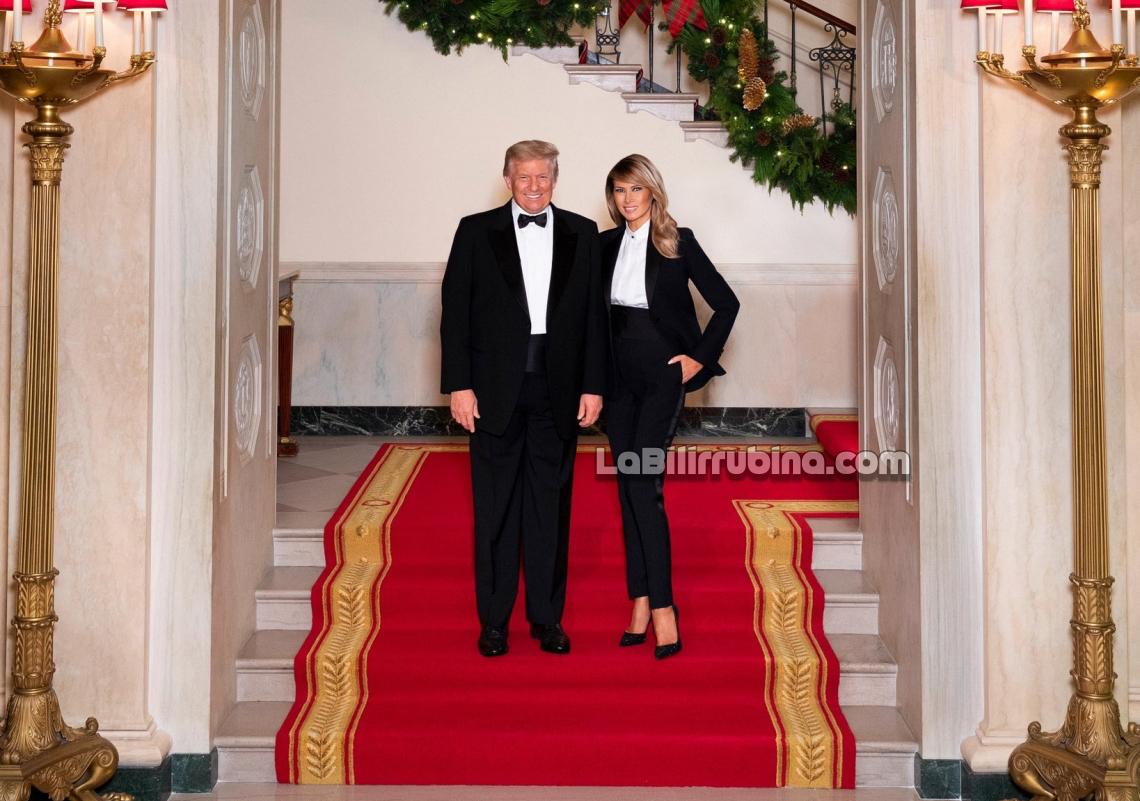 Los Trump publican su foto de Navidad de la Casa Blanca 2020